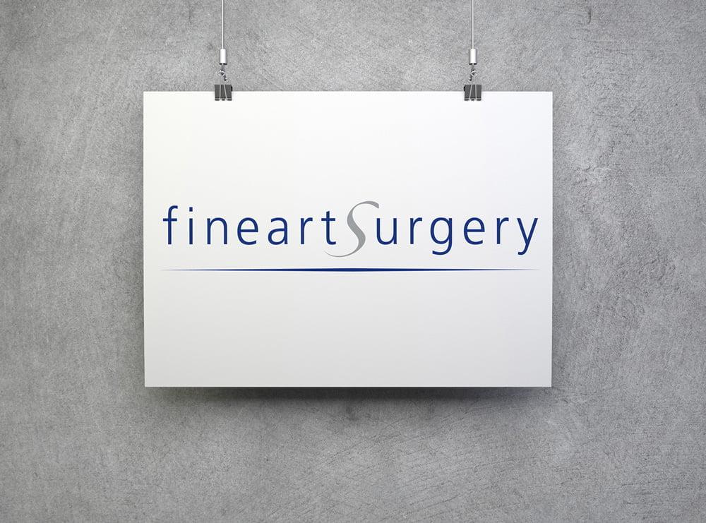 Bild des designten Logos für fineartsurgery