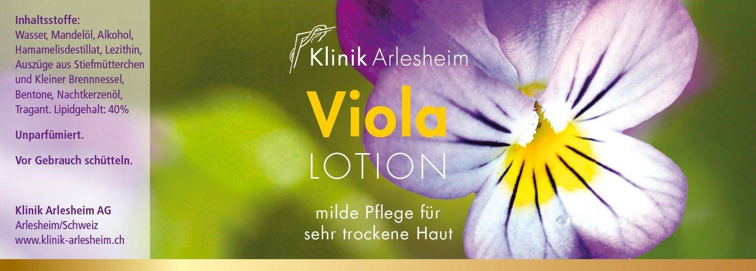 Bild der designten Pflege-Etikette für das Heilmittellabor Klinik Arlesheim