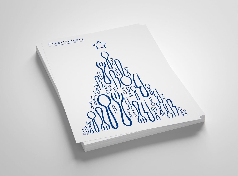 Bild der designten Einladungskarte für fineartsurgery