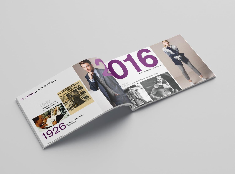 Bild der designten Broschüre für SCHILD