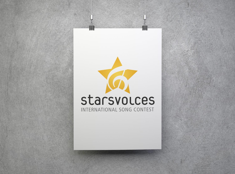 Bild des designten Logos für Starsvoices