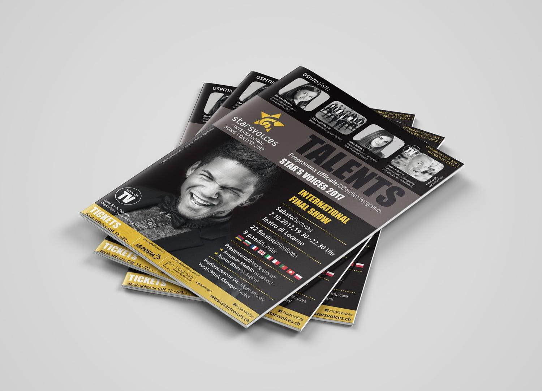 Bild der designten Broschüre für Starsvoices 2017