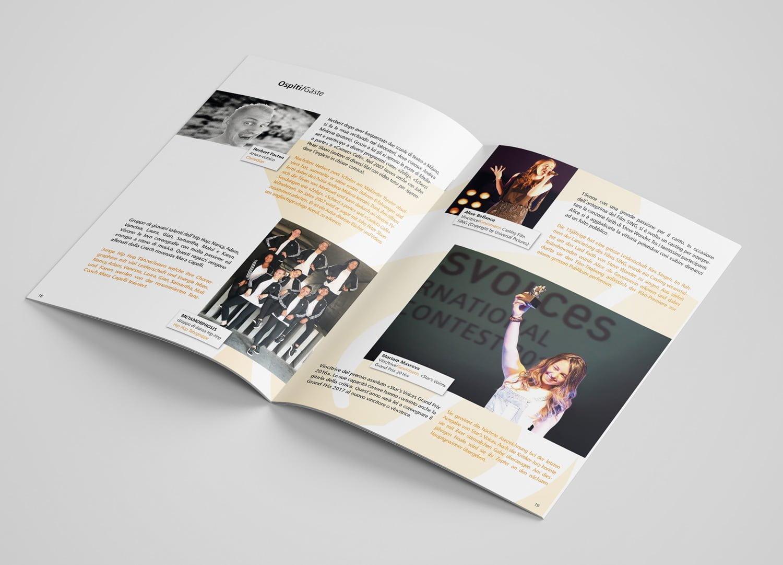 Bild der designten Broschüre für Starsvoices