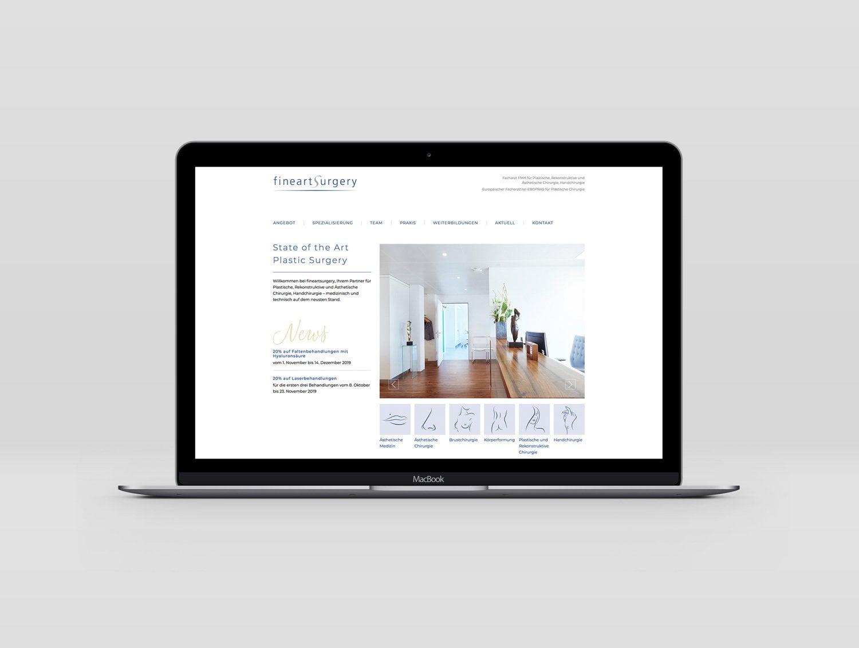 Webdesign für den Kunden fineartsurgery