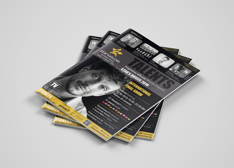 Bild der designten Broschüre für Starsvoices 2019