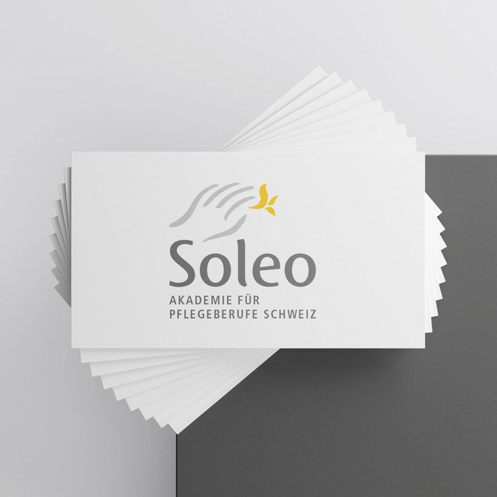 Logo Redesign «Nachher» Soleo Akademie für Pflegeberufe Schweiz