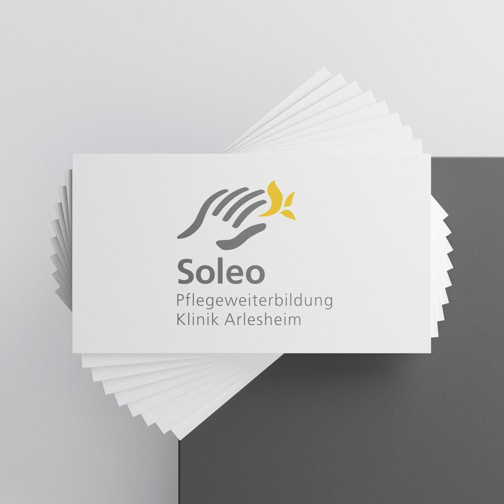 Logo Redesign «Vorher» Soleo Akademie für Pflegeberufe Schweiz