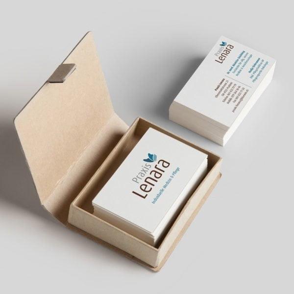 Visitenkarten Design Praxis Lenara | Milligan Design