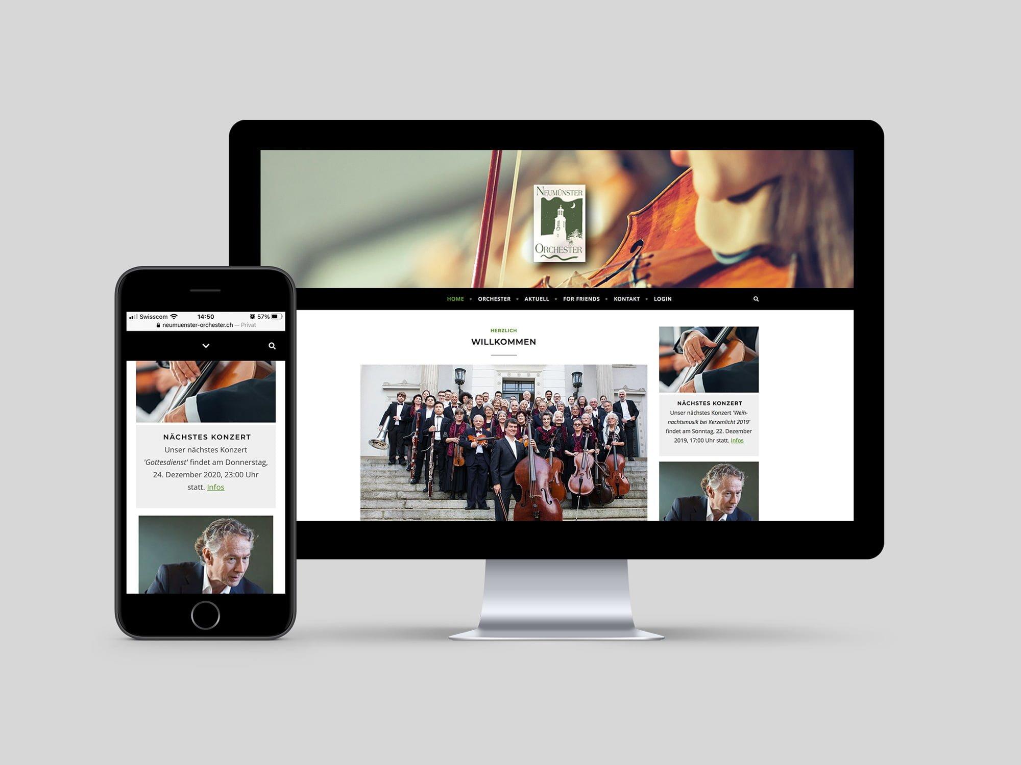 Website erstellen lassen | Grafikatelier Milligan Design | Kunde Neumünster Orchester